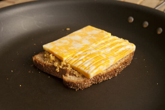 Go thick on the mustard - Chipotle Grilled Cheese