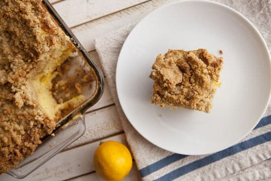 Meyer Lemon Coffee Cake ~ Macheesmo
