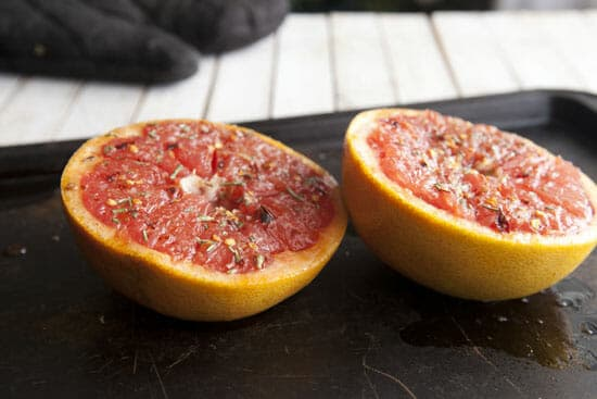 Broiled Grapefruit after a quick broil.
