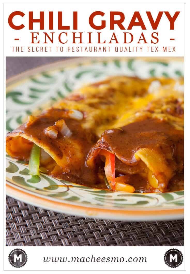 Have you ever thought that your homemade enchiladas are good, but just not quite as great as an authentic restaurant makes? The secret is in the gravy. It's a very spicy, smooth sauce that bakes up perfectly on enchiladas. Try it and never look back!
