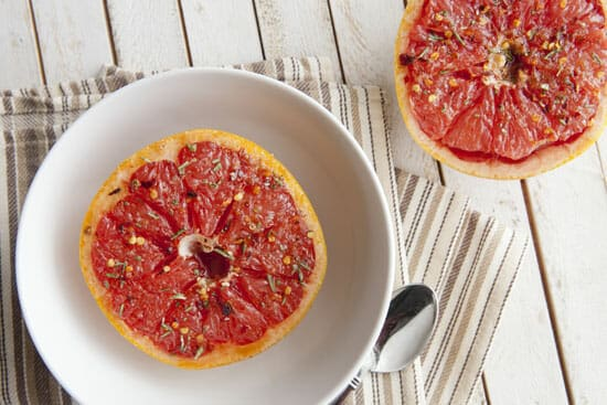 Spicy Broiled Grapefruit ~ Macheesmo