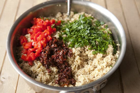 Love the colors in this Couscous Bowl