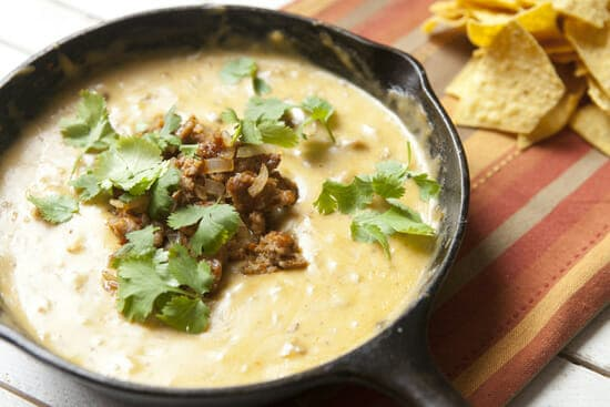 Finished Chorizo Queso Dip