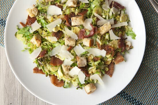 Brussels Sprouts Caesar Salad ~ Macheesmo