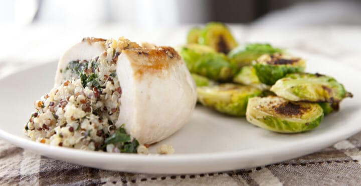 Stuffed Chicken Breast with Quinoa and Spinach