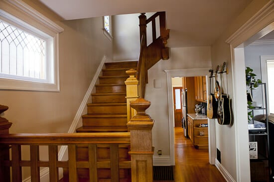 This staircase is, um, old.