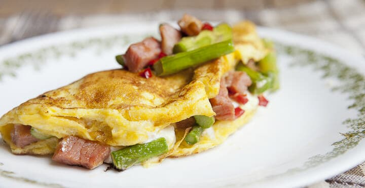 asparagus omelette cheese