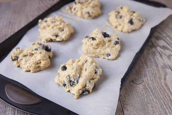 Okay. A bit large. - cornmeal blueberry scones