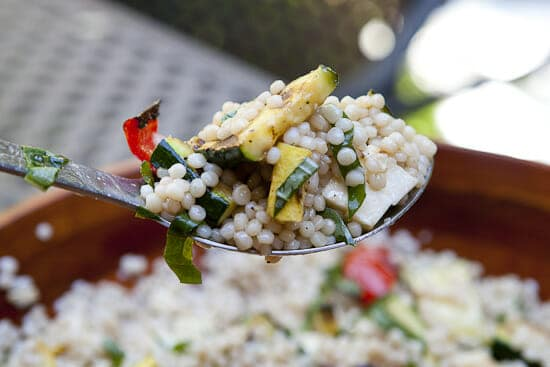 Israeli Couscous Salad - Macheesmo