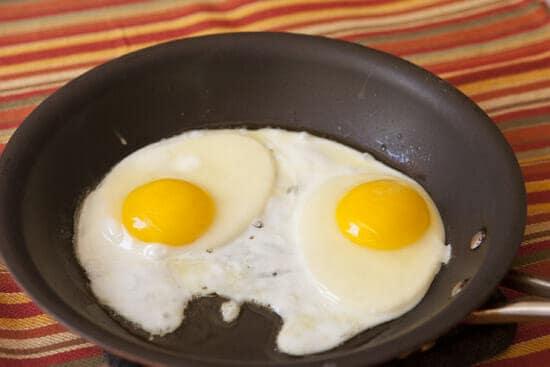 Perfect eggs for Quesadilla Benedicts