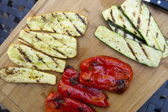 grilled vegetables for Israeli Couscous Salad