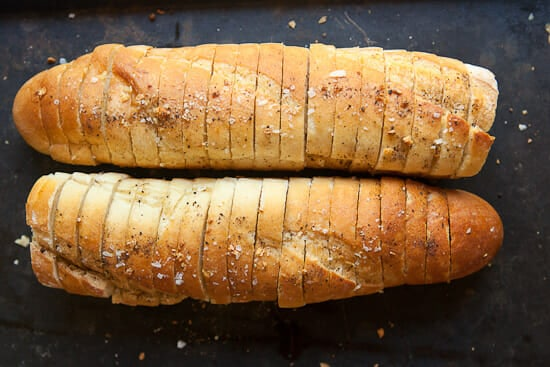 I could eat all of this Hasselback Garlic Bread