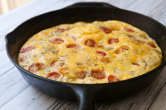 Baked and puffed - Cherry Tomato Frittata