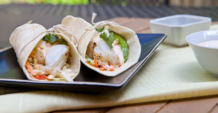Grilled cod fish tacos summer grilling macheesmo for How to cook cod for fish tacos