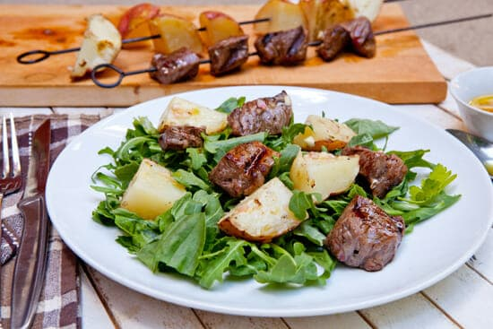 Steak and Potato Kabobs ~ Macheesmo