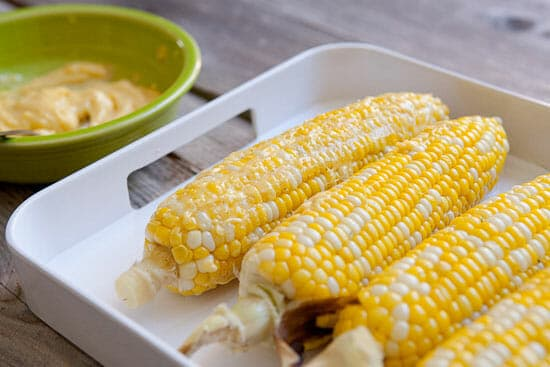 The secret ingredient to grilled elote corn.