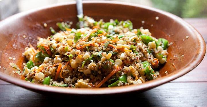 Kale Quinoa Salad ~ A Great Healthy Lunch ~ Macheesmo