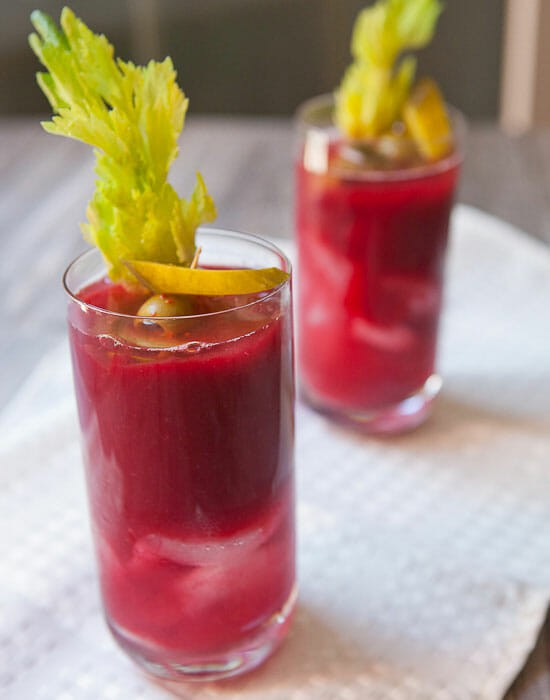 Yes please - Beet Bloody Mary Recipe from Macheesmo