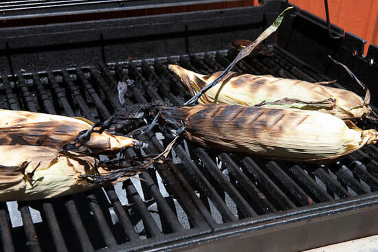Corn on the grill - Grilled Mexican Corn