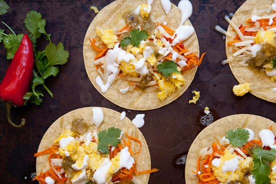 Breakfast Sweet Potato Tacos ~ Macheesmo