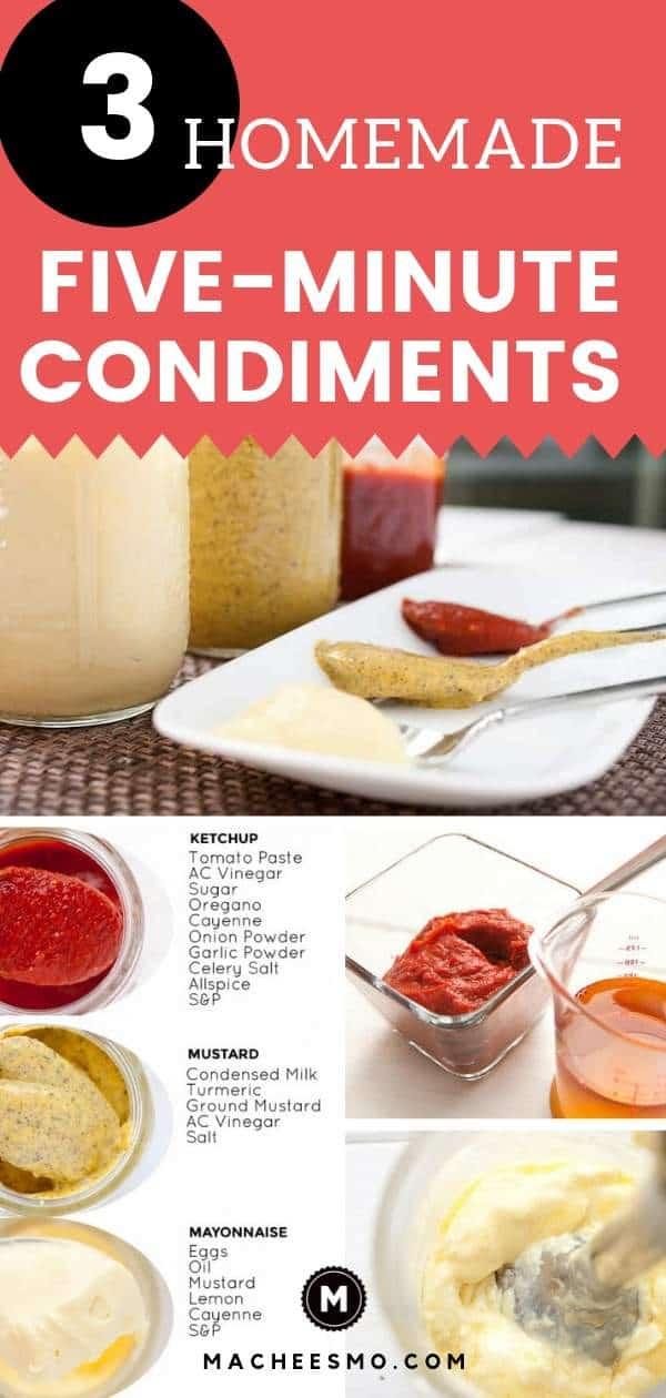 Three Homemade Condiments