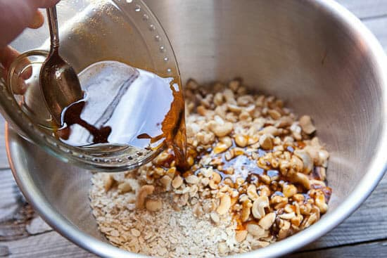 Mixing Maple Granola