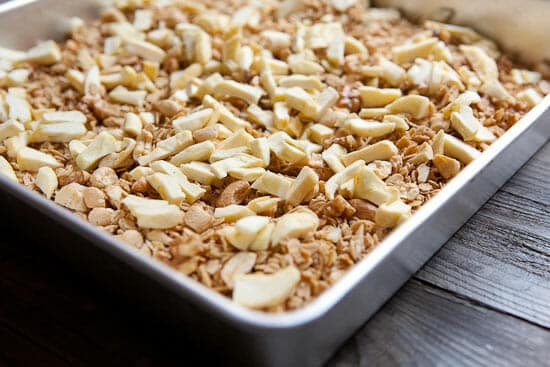 Apples are a nice add to this Maple Granola