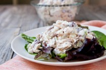 Crunchy Chicken Salad with Grapes