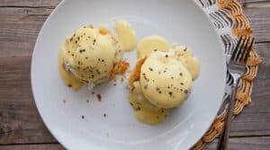 Brioche Eggs Benedict