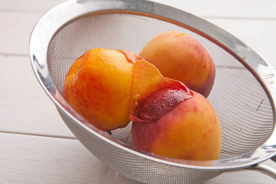 Perfect peaches for Peach Beignets