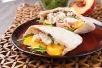 Peach Chicken Salad Pita