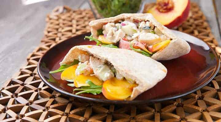 Peach Chicken Salad Pita
