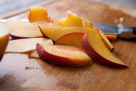 Sweet sweet peaches! - Chicken Salad Pitas