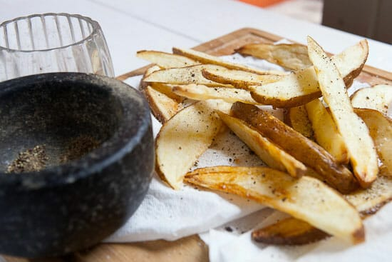 Simple seasonings on Double Fried French Fries