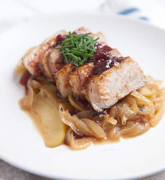 Kena's Seared Pork Chops with Apples ~ Macheesmo