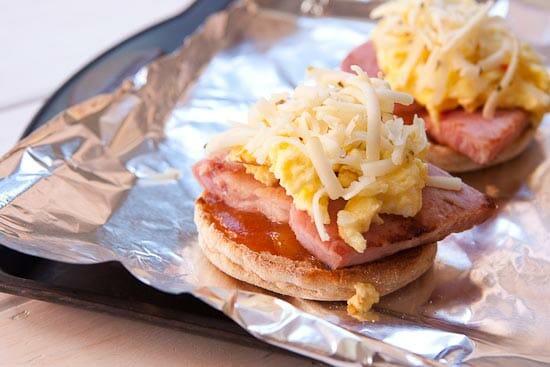 Building a Mango Chutney Breakfast Sandwich