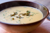Hatch Green Chile Cream of Potato Soup - Macheesmo