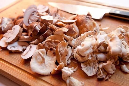 Mushrooms sliced - Warm Mushroom Salad