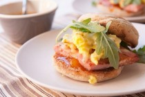 mango ham breakfast sandwich