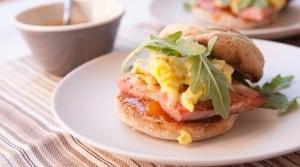 mango ham breakfast sandwich