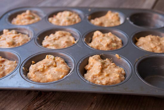 Don't forget to grease those tins - Hummus Muffins