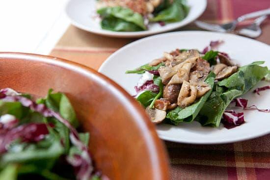 Warm mushroom salad!