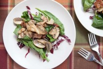 Warm Mushroom Salad via Macheesmo