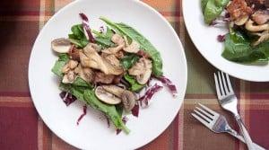 Warm Mushroom Salad via Macheesmo