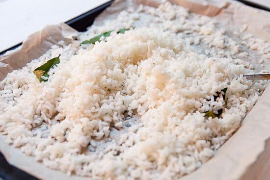 Carolina gold rice cooked.