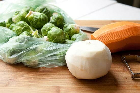 The Veg basics for Brussels Sprout Hash