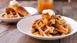 Apple Cider Waffle recipe via Macheesmo.com