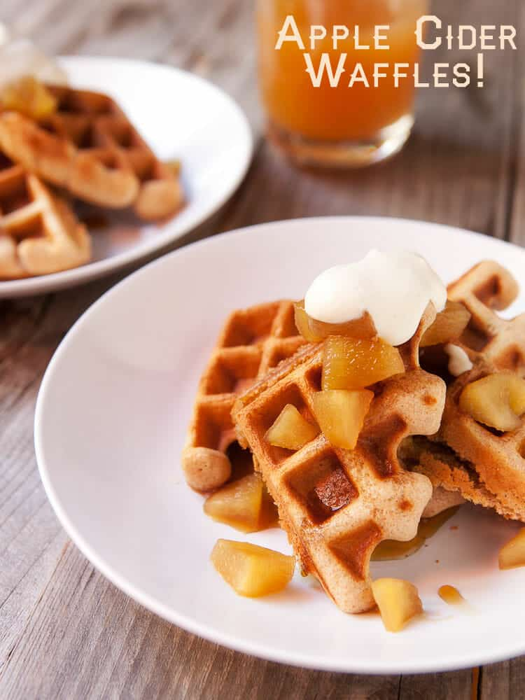 Apple Cider Waffles Recipe on Macheesmo.
