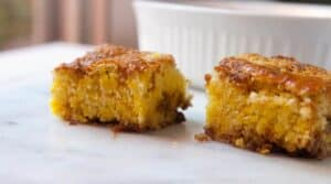 Just sweet enough golden beet coffee cake on Macheesmo
