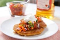 Corn and green chile griddle cakes via Macheesmo.com #cakes #corn